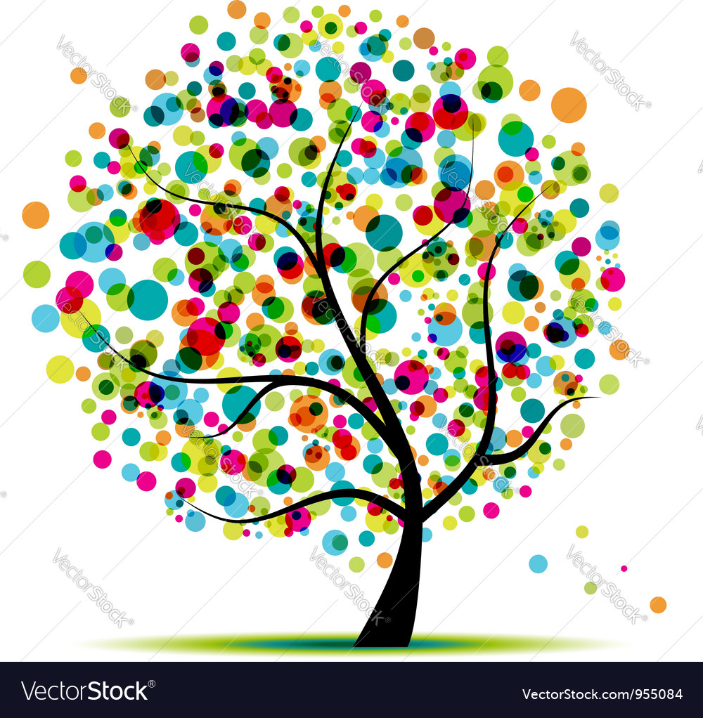 Abstract spring tree vector | Price: 1 Credit (USD $1)