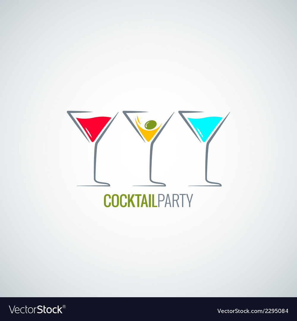 Cocktail party glass menu background vector | Price: 1 Credit (USD $1)