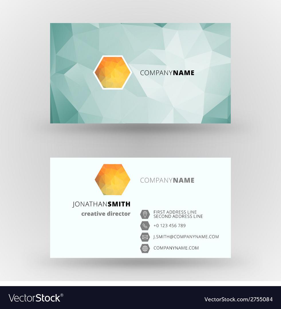 Creative business card design print templat vector | Price: 1 Credit (USD $1)