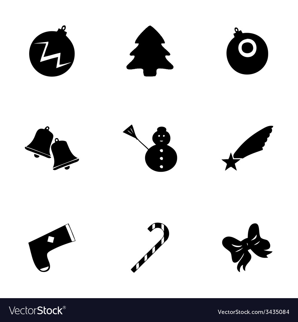 Cristmas icons set vector | Price: 1 Credit (USD $1)