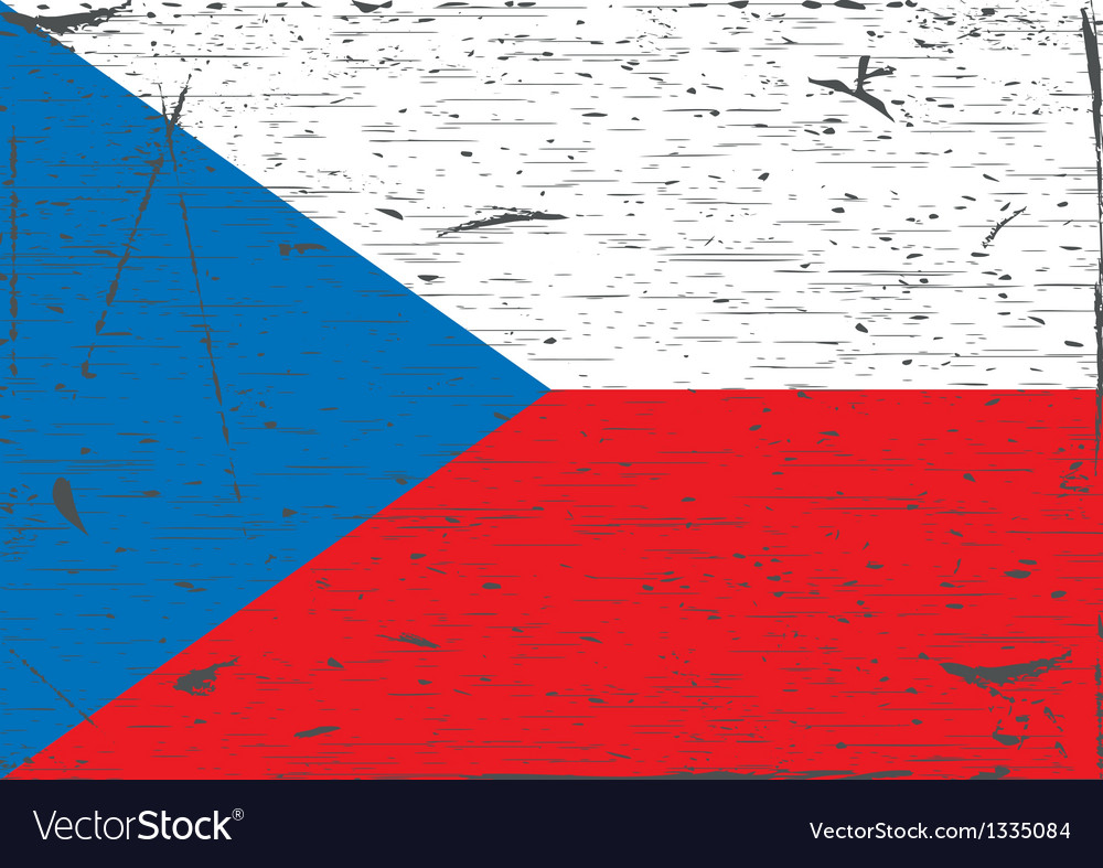 Czech flag grunge vector | Price: 1 Credit (USD $1)