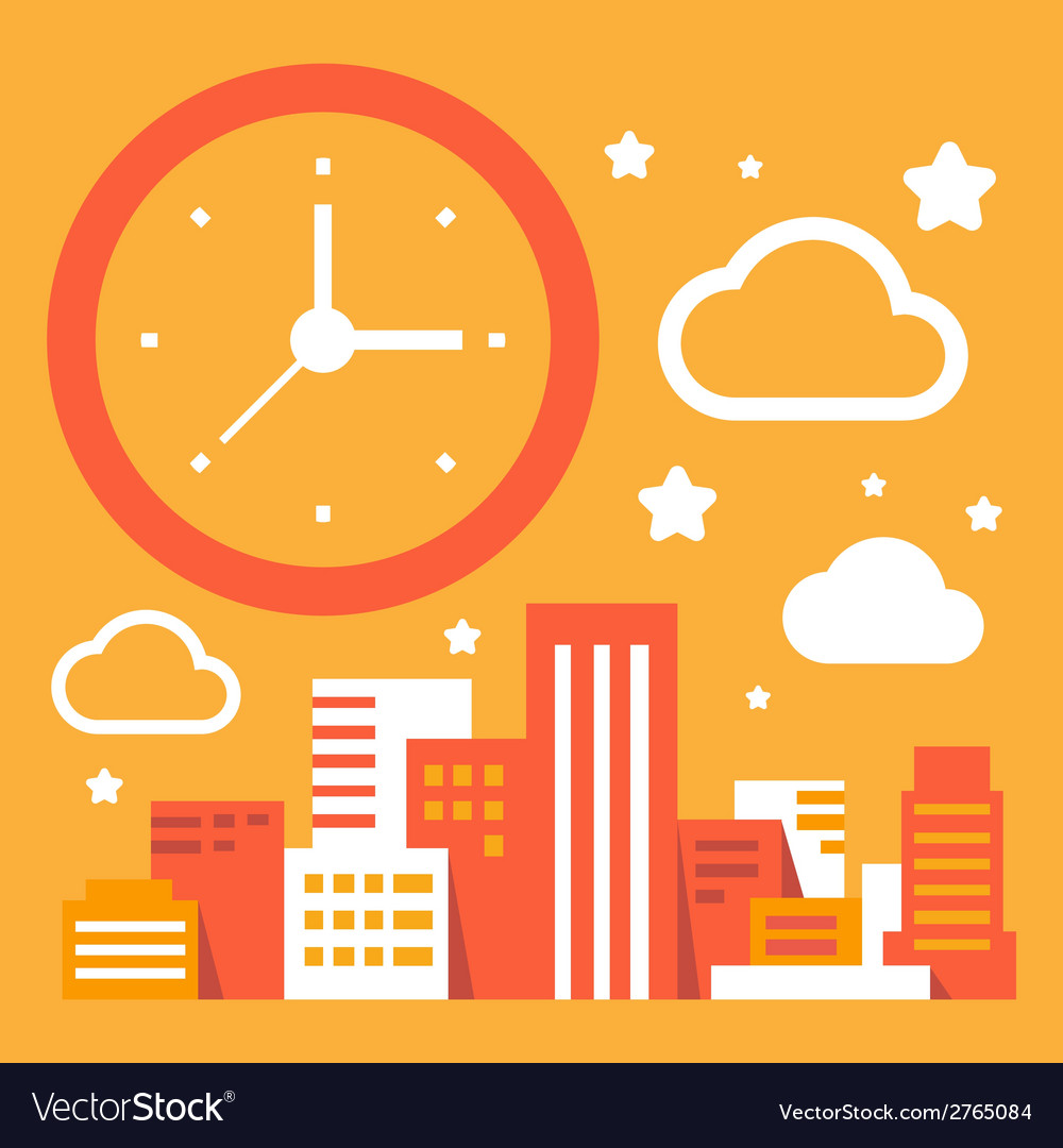 Daytime in the big city vector | Price: 1 Credit (USD $1)