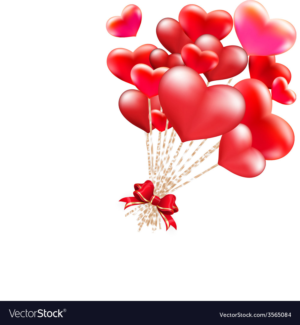 Elegant valentines day heart balloons eps 10 vector | Price: 3 Credit (USD $3)