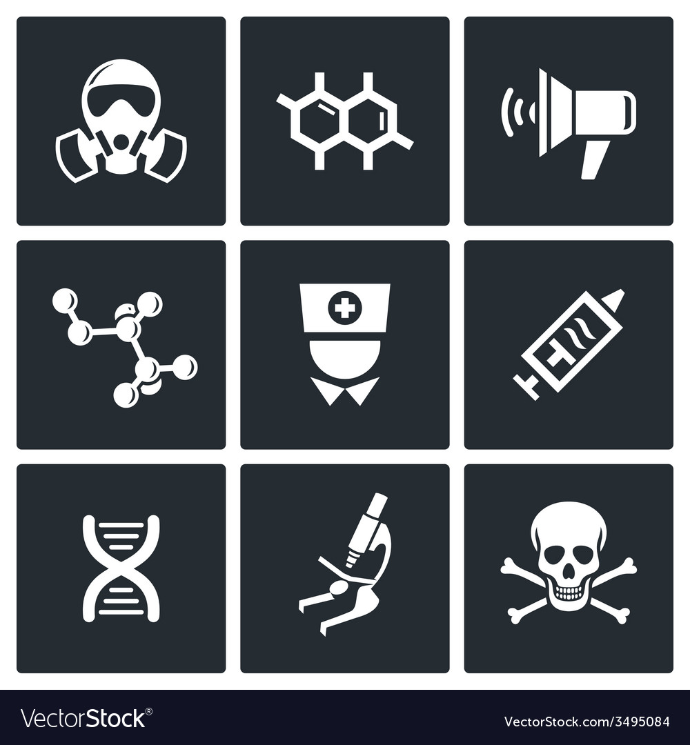 Epidemic protection icons set vector | Price: 1 Credit (USD $1)
