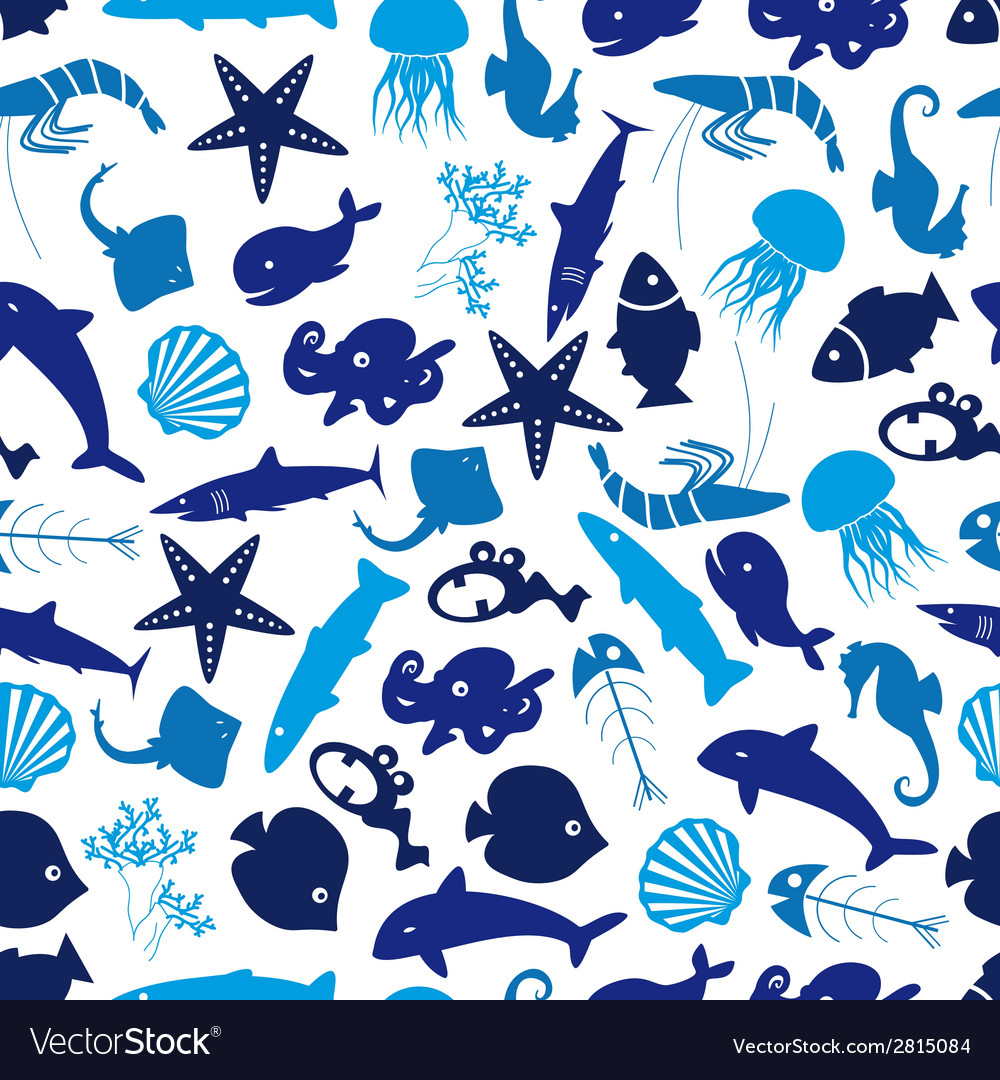 Fish and sea life seamless pattern eps10 vector | Price: 1 Credit (USD $1)