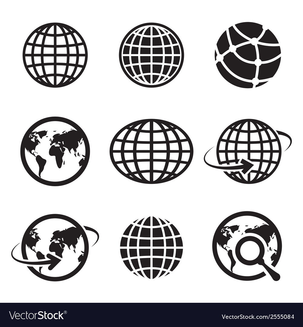 Icon globes vector