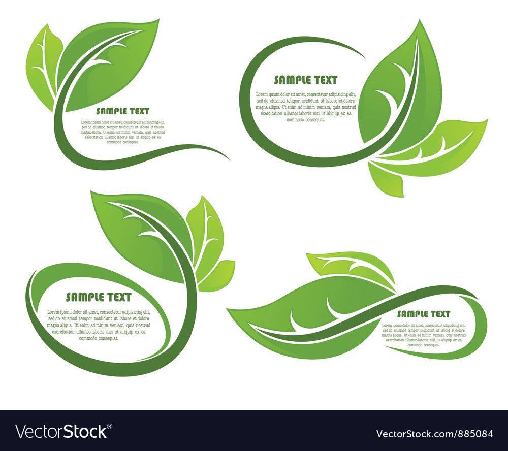 Leaves frames vector | Price: 1 Credit (USD $1)