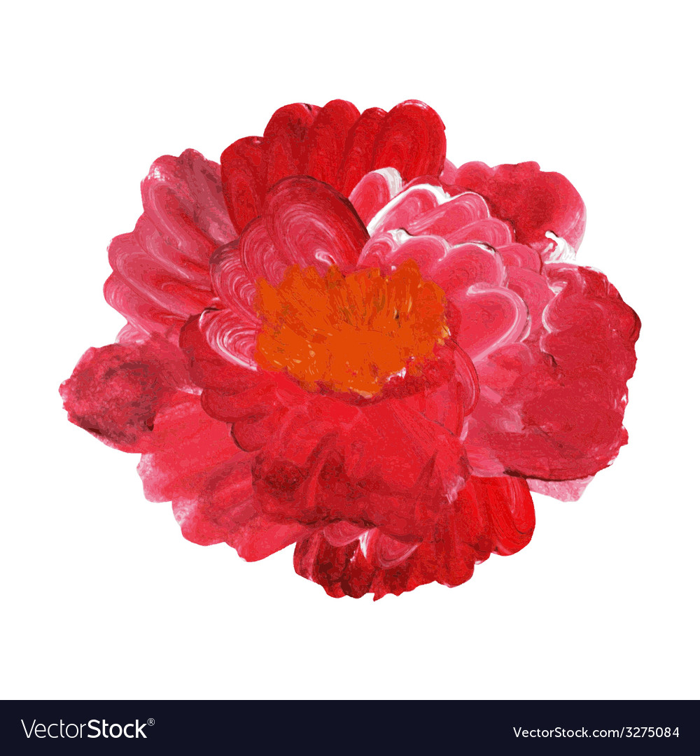 Oil painted rose vector | Price: 1 Credit (USD $1)