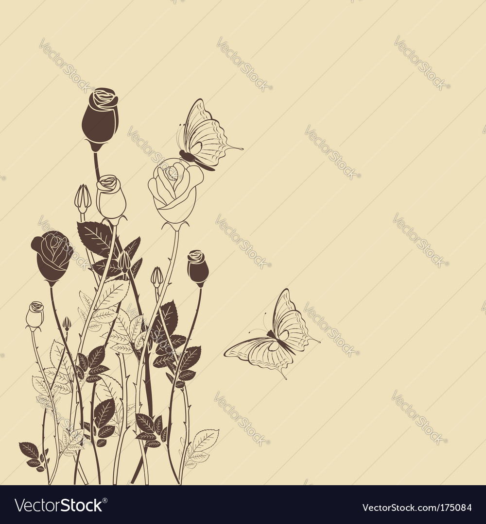 Rose flower with wallpaper vector | Price: 1 Credit (USD $1)