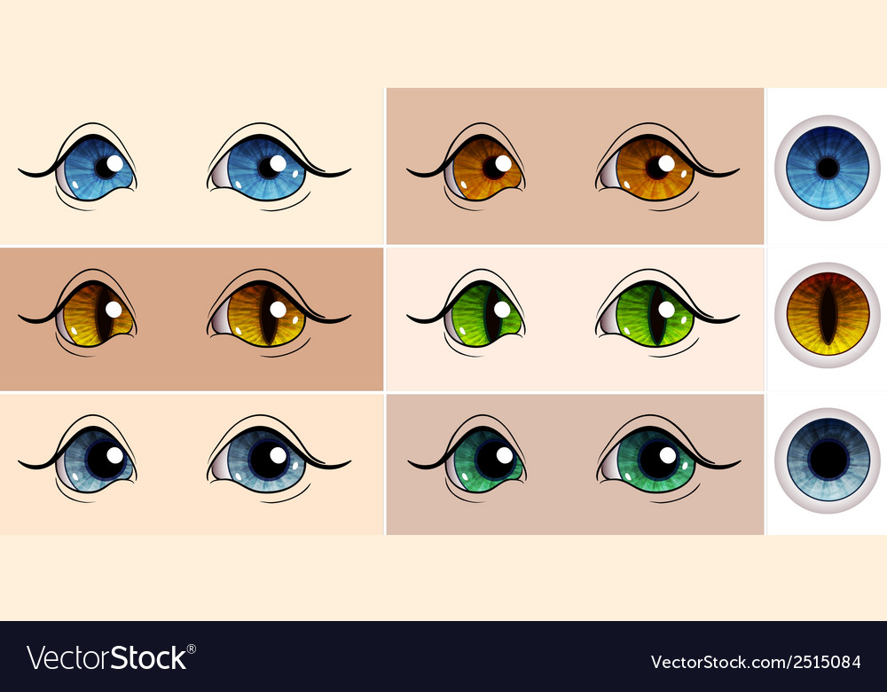 Set of eyes vector | Price: 1 Credit (USD $1)