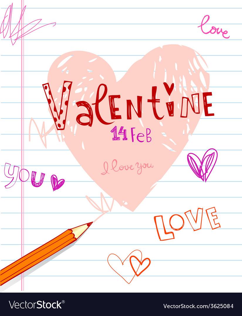 Valentines doodles vector | Price: 1 Credit (USD $1)