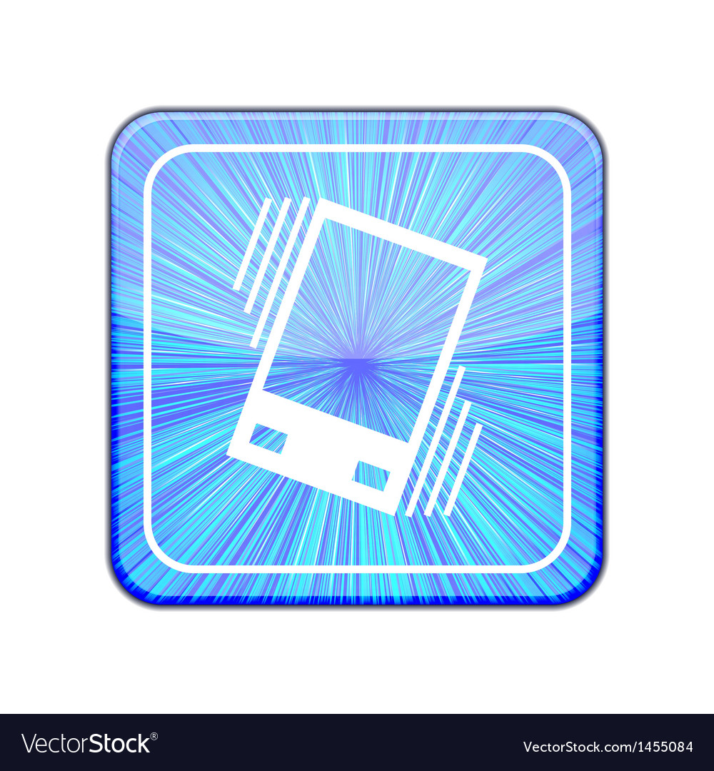 Version vibration icon eps 10 vector | Price: 1 Credit (USD $1)