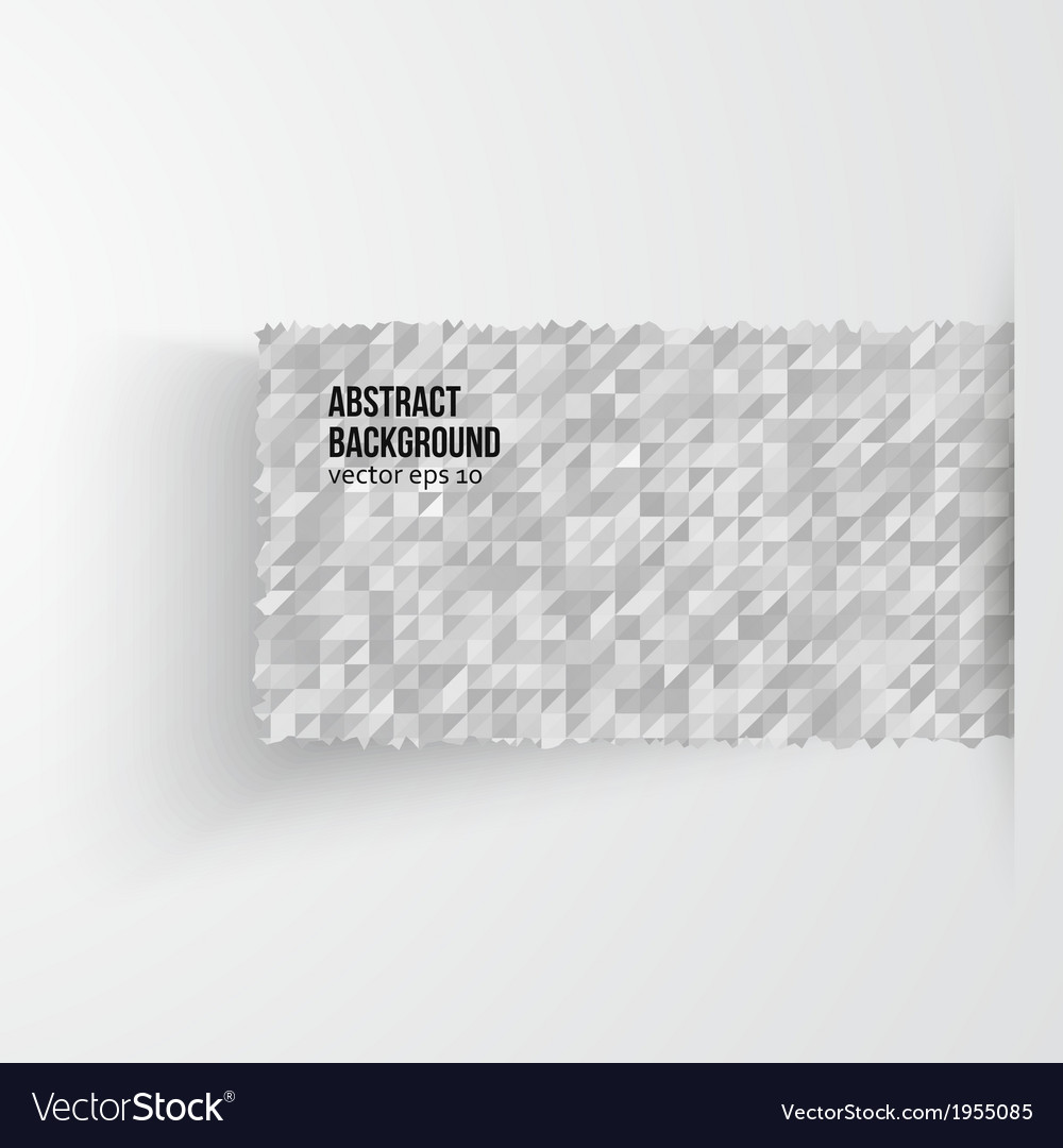 Abstract banners triangle white and grey vector | Price: 1 Credit (USD $1)