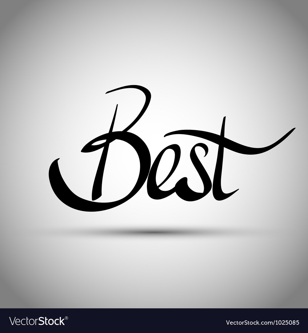 Best hand lettering - handmade calligraphy vector | Price: 1 Credit (USD $1)