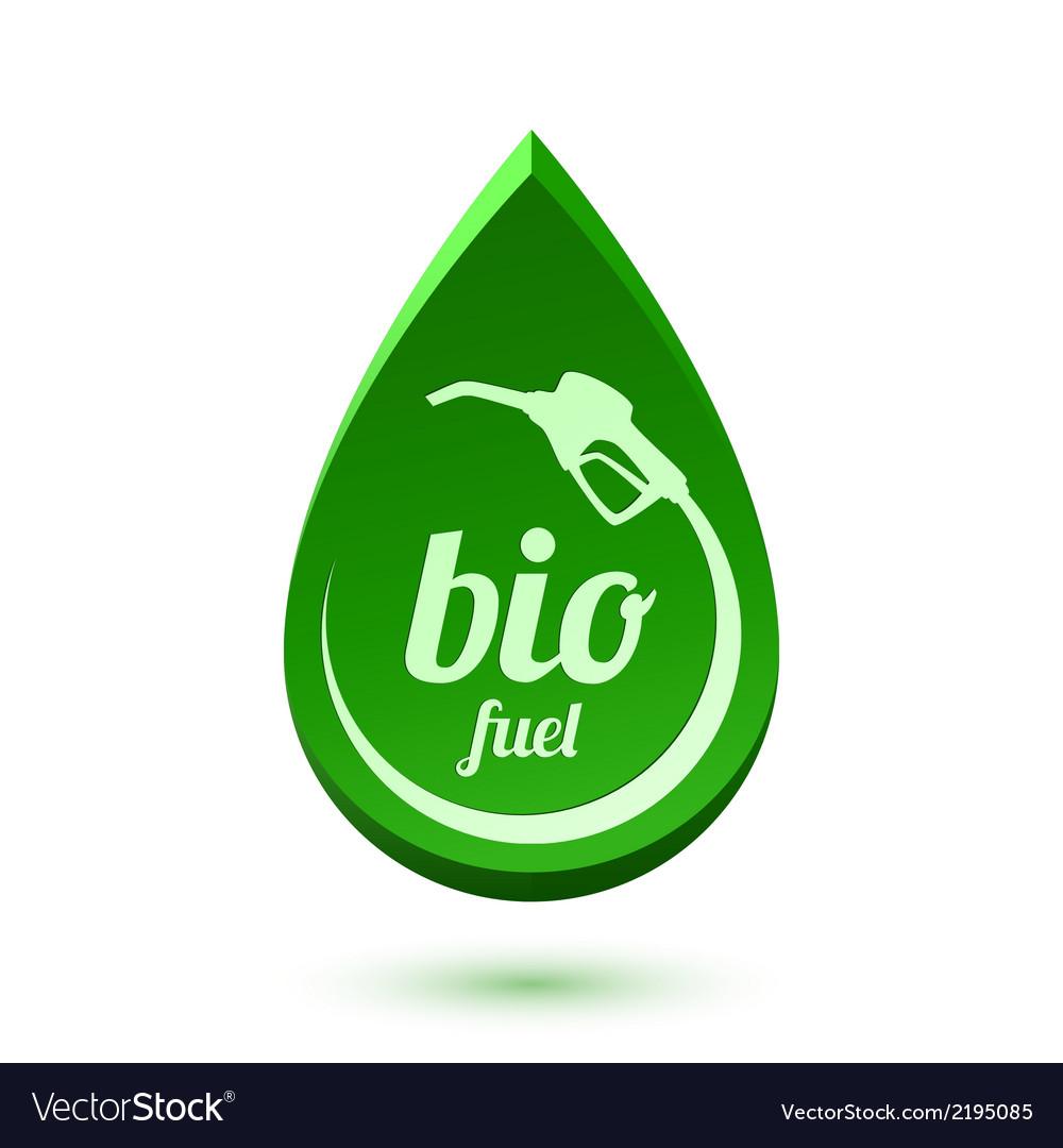 Bio fuel icon vector | Price: 1 Credit (USD $1)