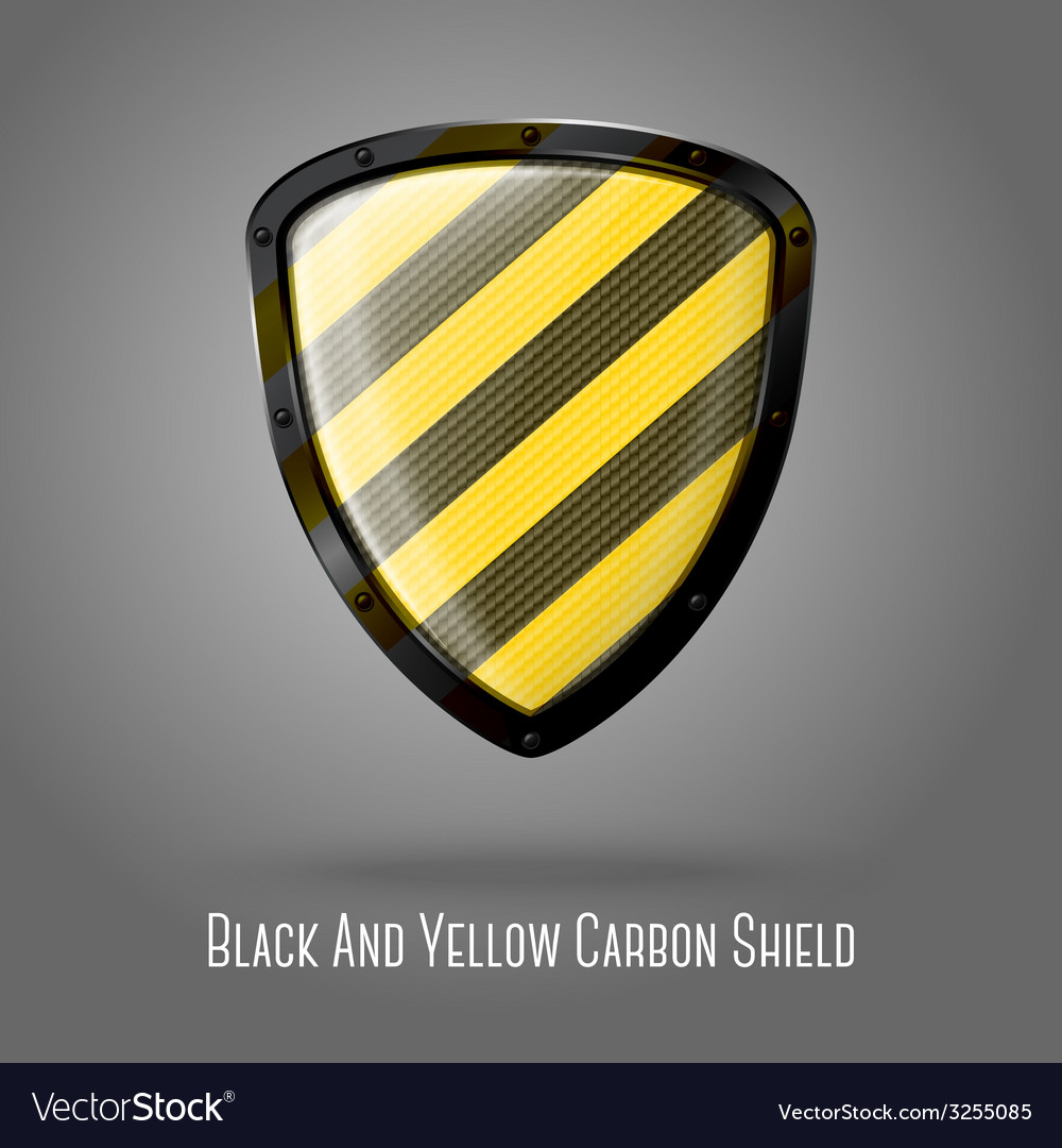 Blank yellow and black caution realistic glossy vector | Price: 1 Credit (USD $1)