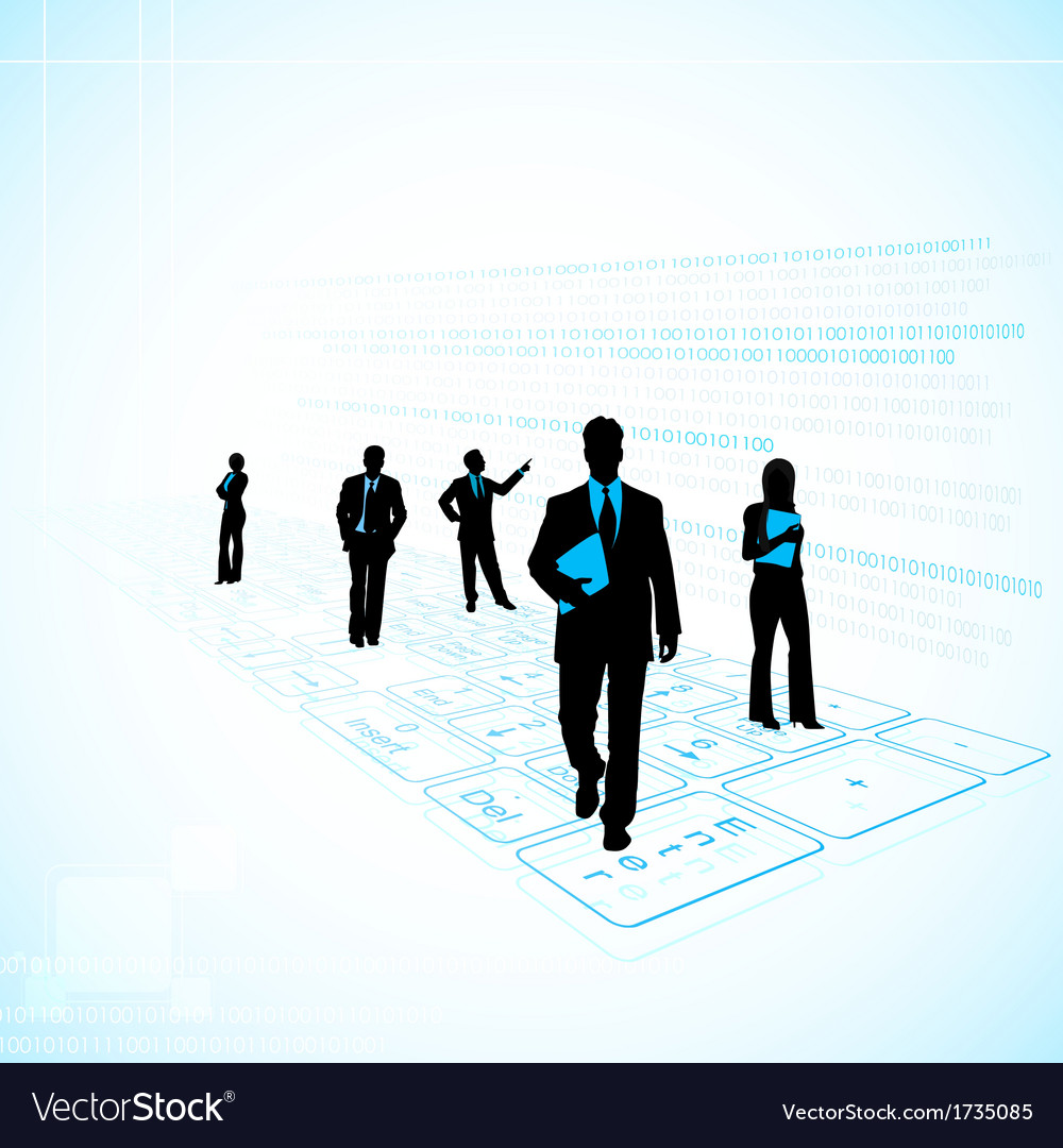 Business people on technology background vector | Price: 1 Credit (USD $1)
