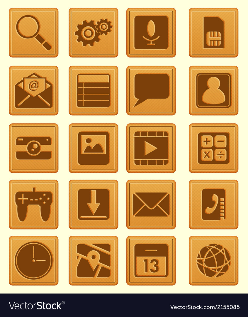 Leather emboss smartphone icon vector | Price: 1 Credit (USD $1)