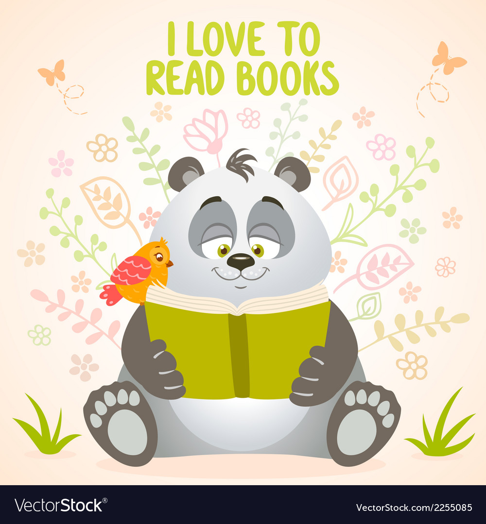 Panda reads vector | Price: 1 Credit (USD $1)