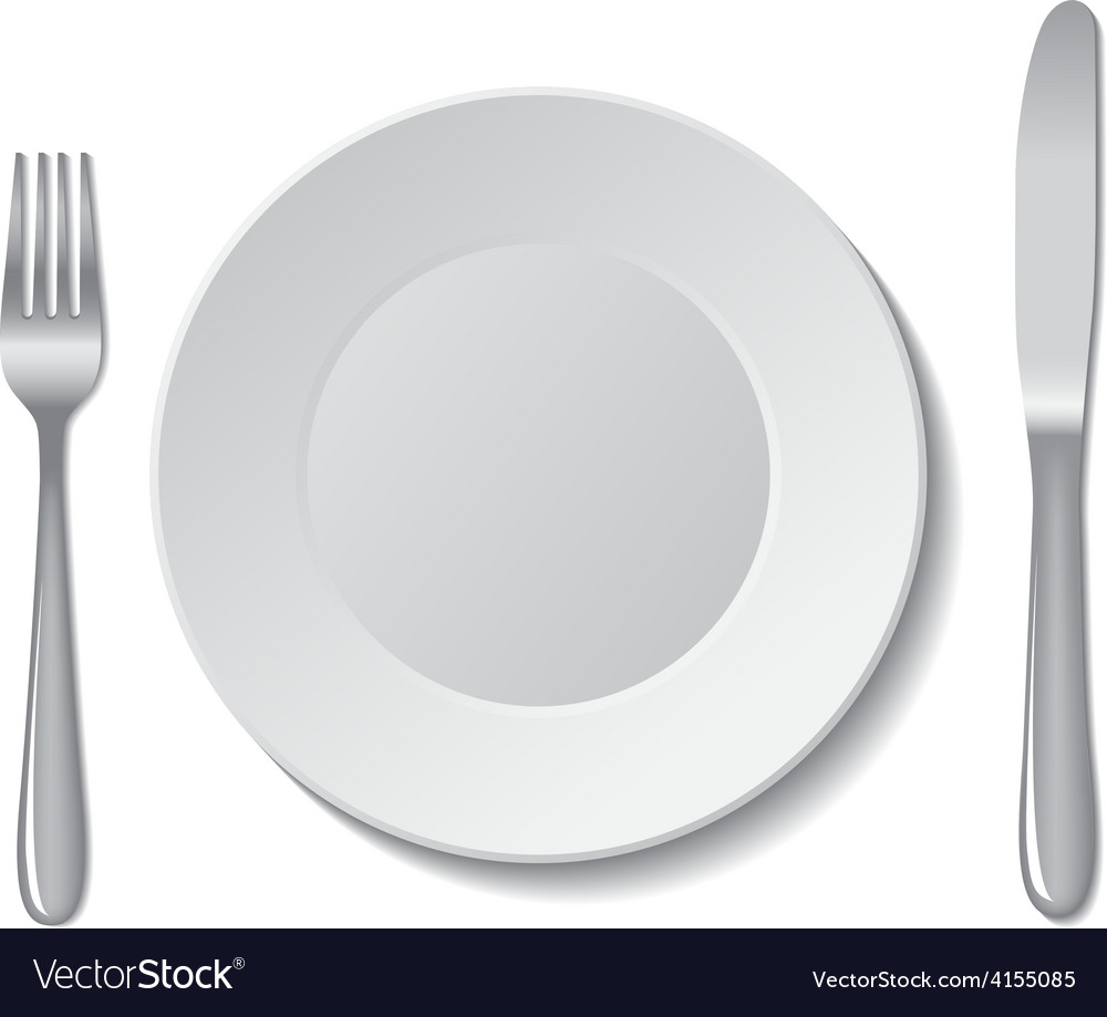Plate cutlery vector | Price: 1 Credit (USD $1)