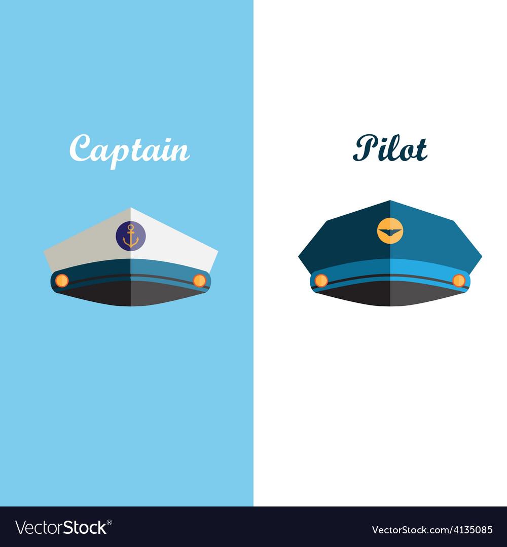 Sailor and pilot cap vector | Price: 1 Credit (USD $1)