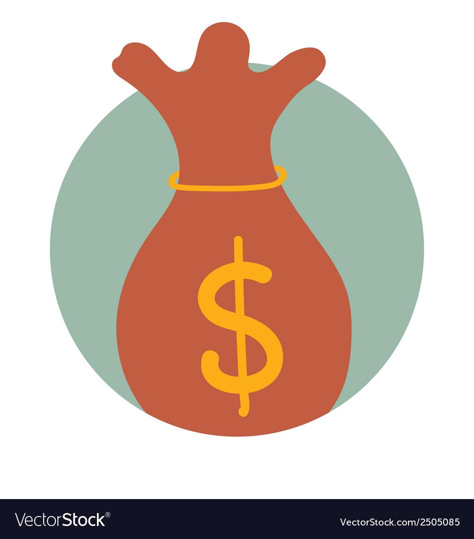 Saving money bag modern flat design concept vector   Price: 1 Credit (USD $1)