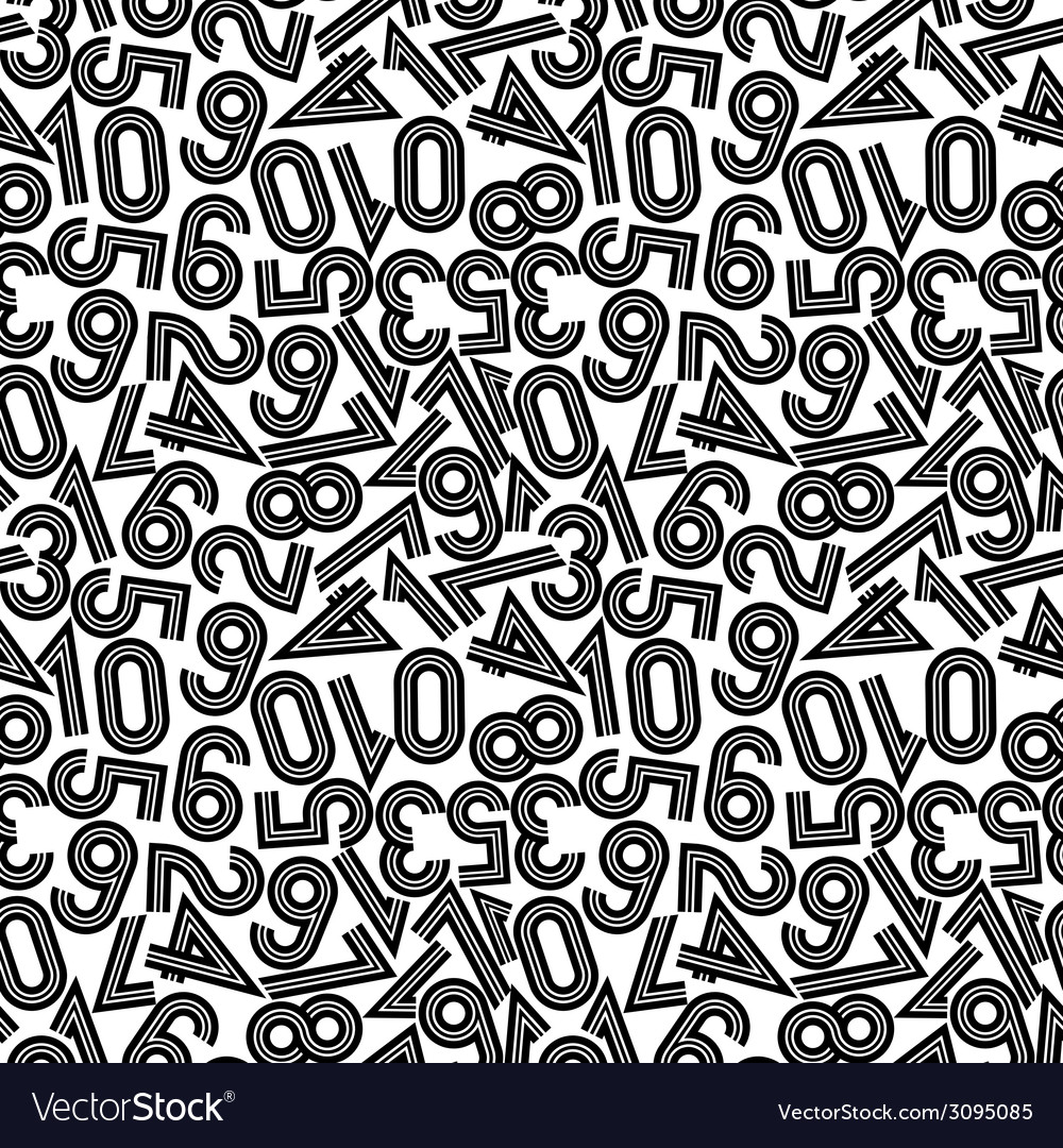 Seamless pattern with numbers vector | Price: 1 Credit (USD $1)