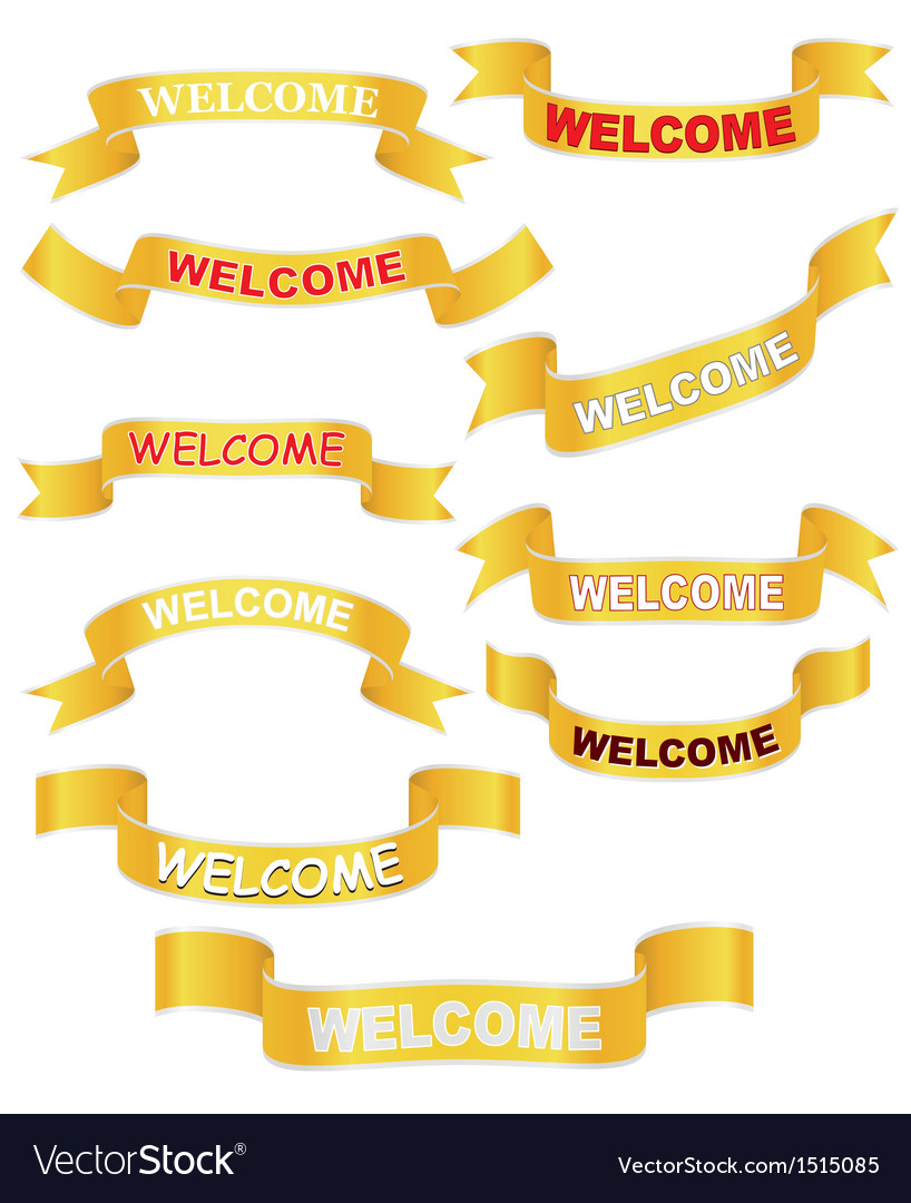 Set of welcome banners vector | Price: 1 Credit (USD $1)