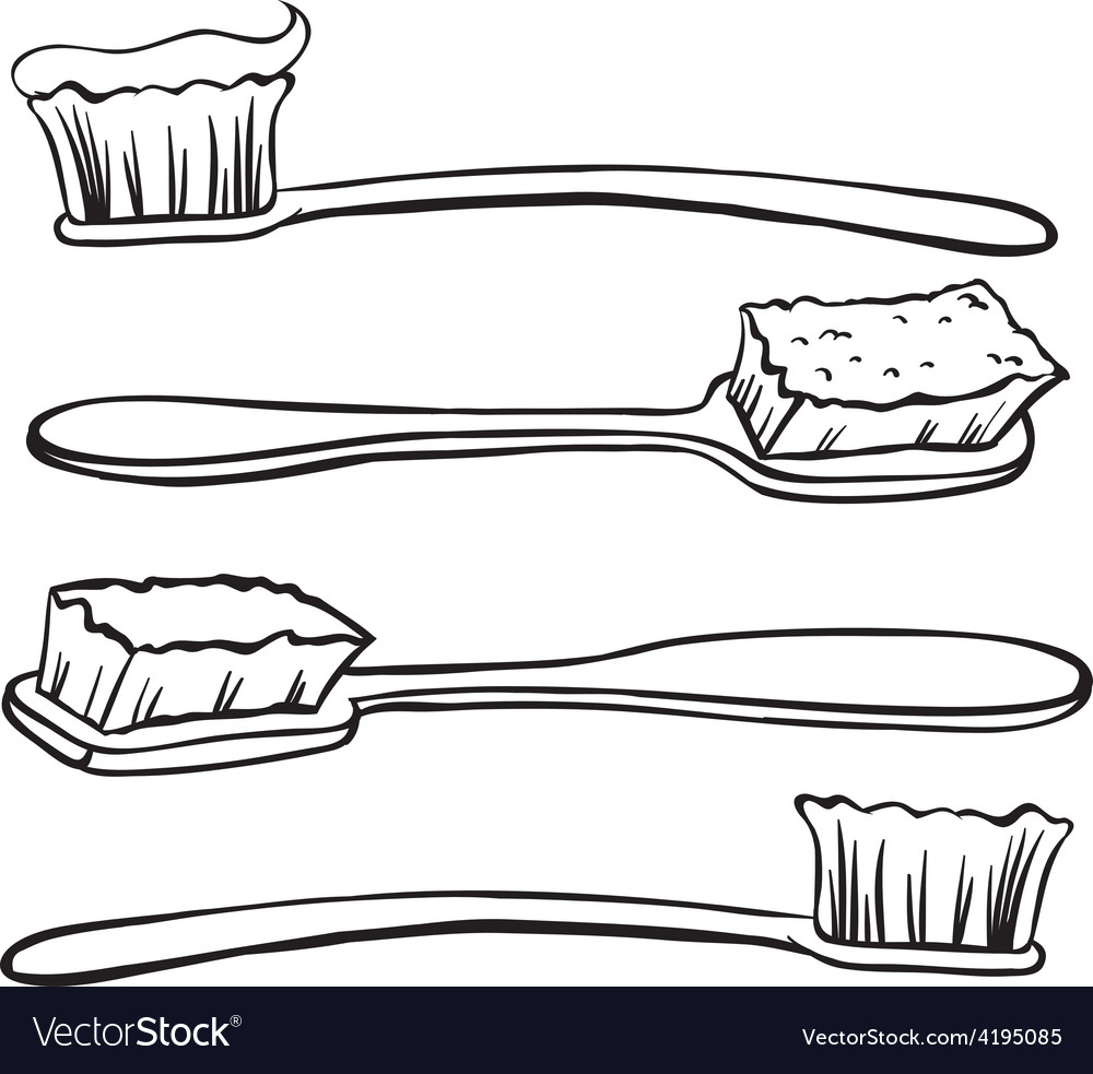Toothbrushes vector | Price: 1 Credit (USD $1)