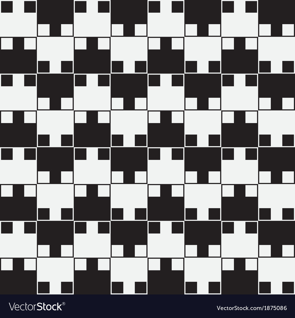 Black white optical seamless pattern background vector | Price: 1 Credit (USD $1)