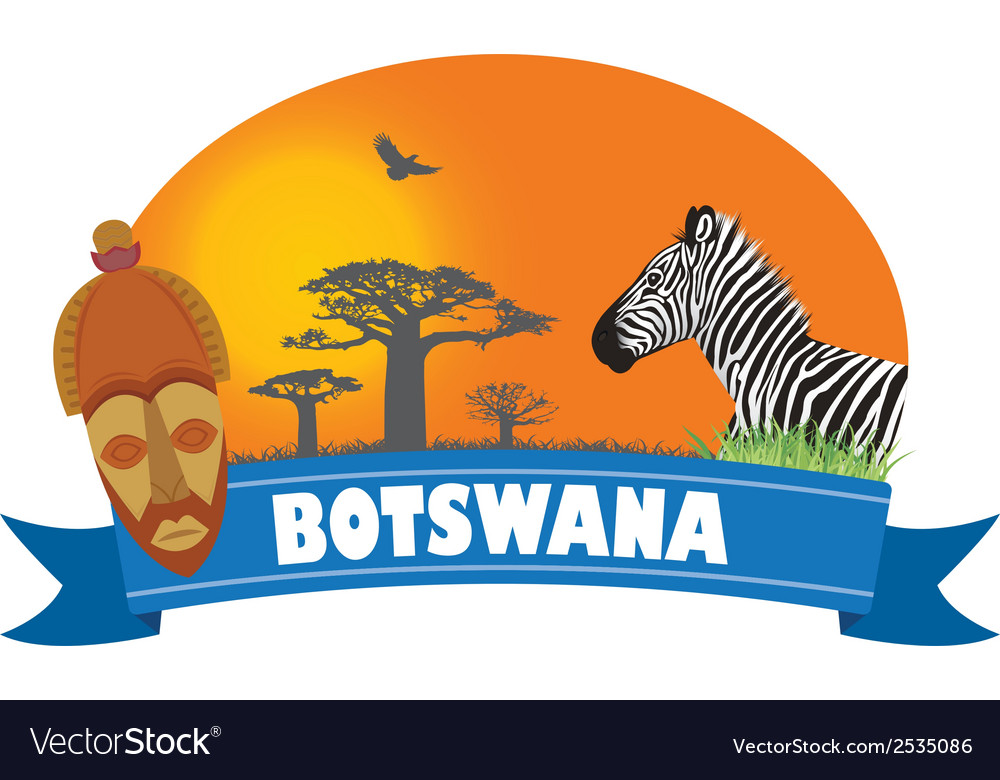 Botswana vector | Price: 1 Credit (USD $1)