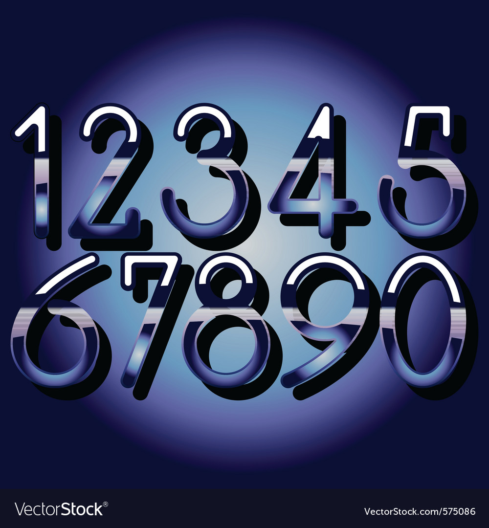 Chrome numbers vector | Price: 1 Credit (USD $1)