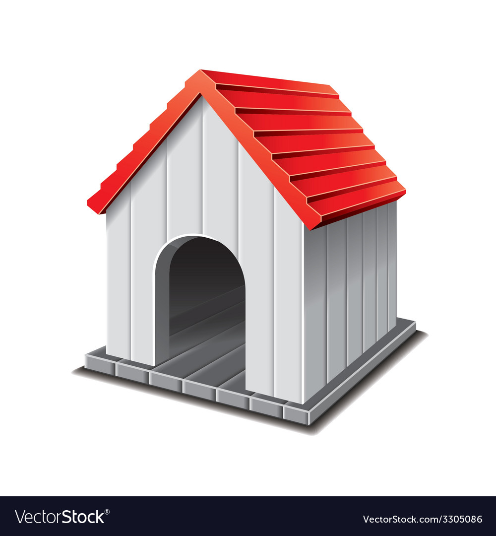 Dog house isolated vector | Price: 1 Credit (USD $1)