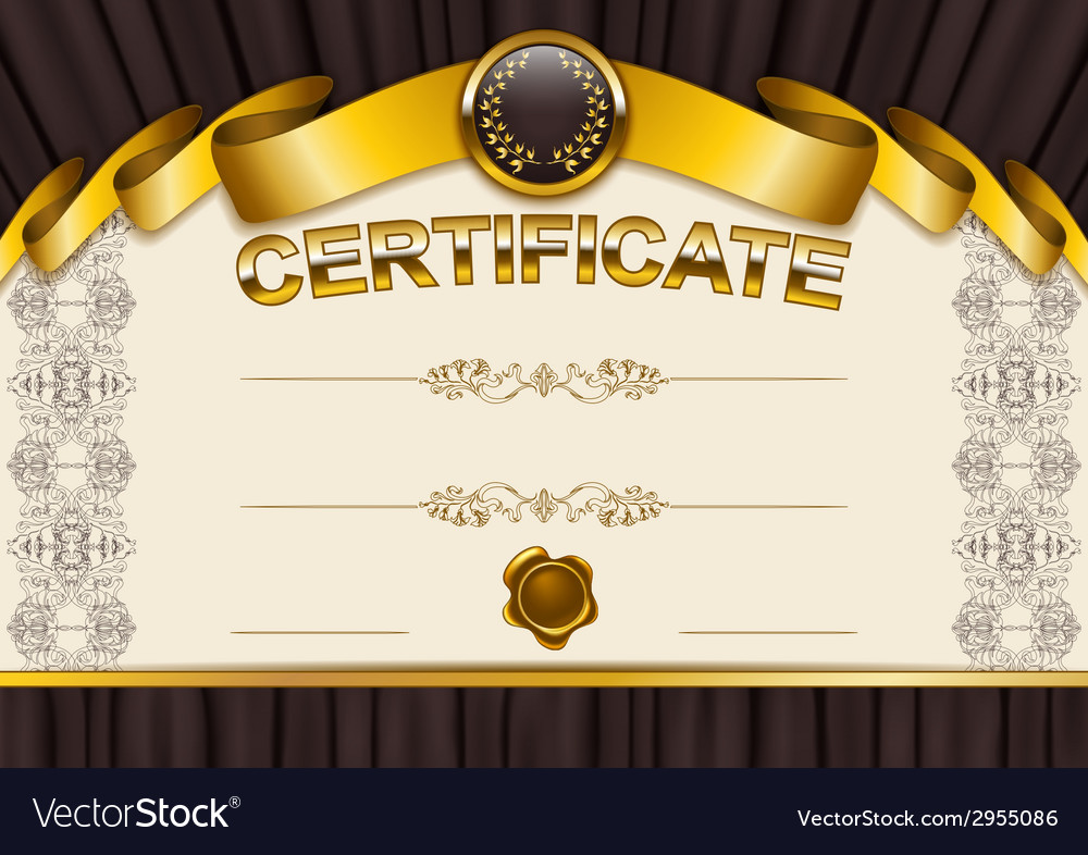 Elegant template of certificate diploma vector | Price: 1 Credit (USD $1)