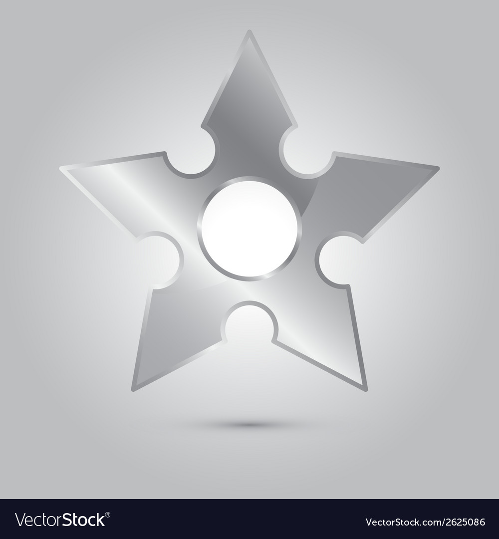 Ninja stars ninja and weapon cartoon vector | Price: 1 Credit (USD $1)