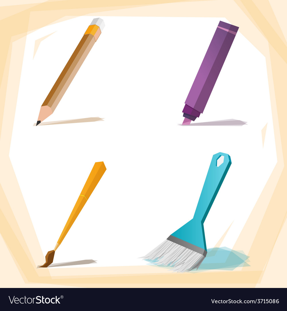 Painting brush vector | Price: 1 Credit (USD $1)