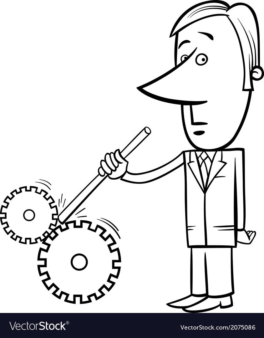 Saboteur businessman cartoon vector | Price: 1 Credit (USD $1)