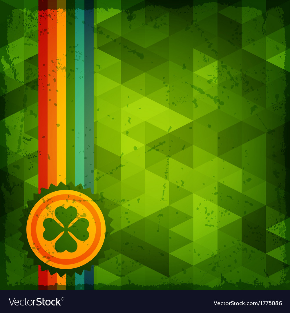 Saint patricks day abstract grunge background vector   Price: 1 Credit (USD $1)