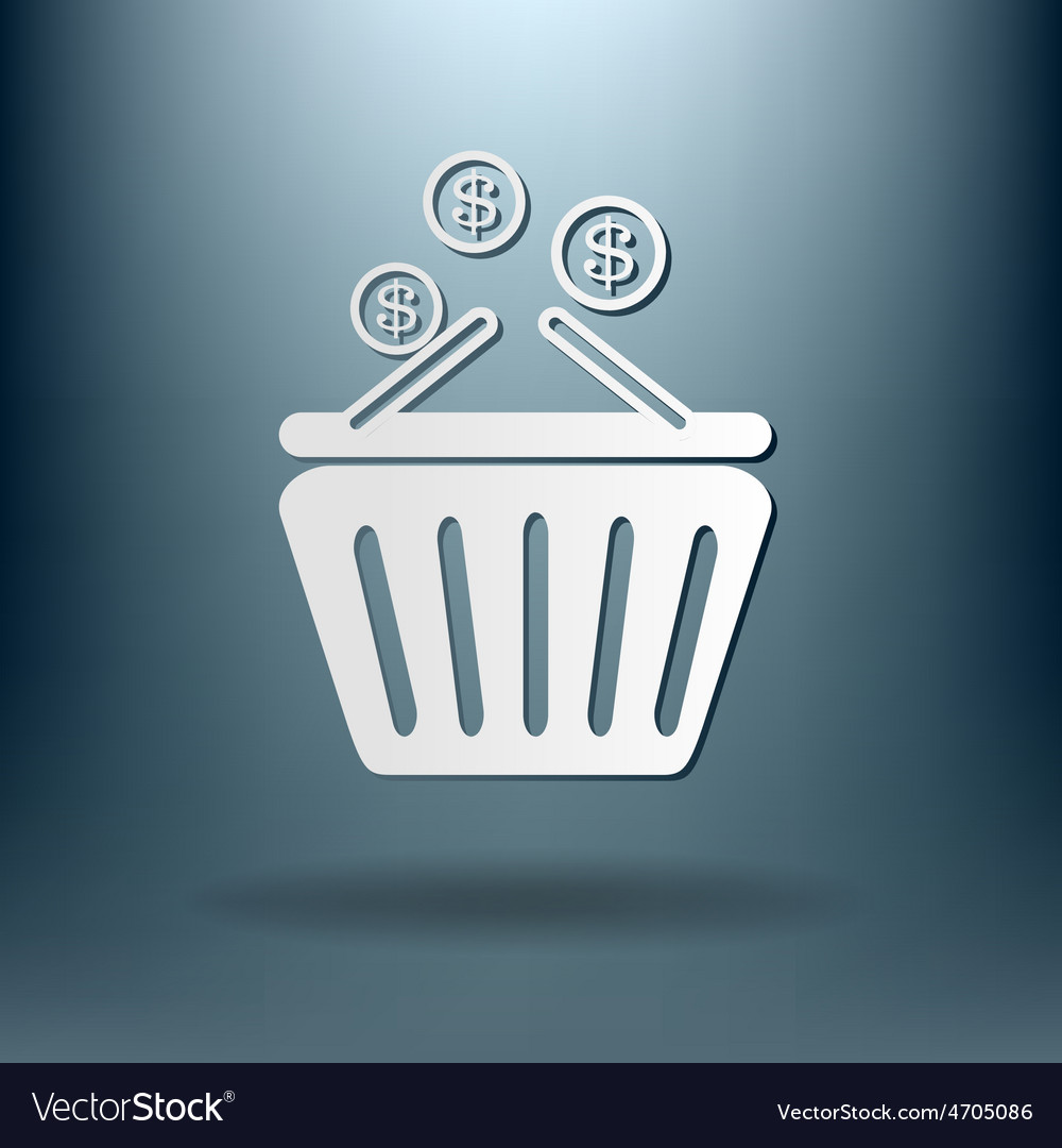 Shopping cart with money vector   Price: 1 Credit (USD $1)