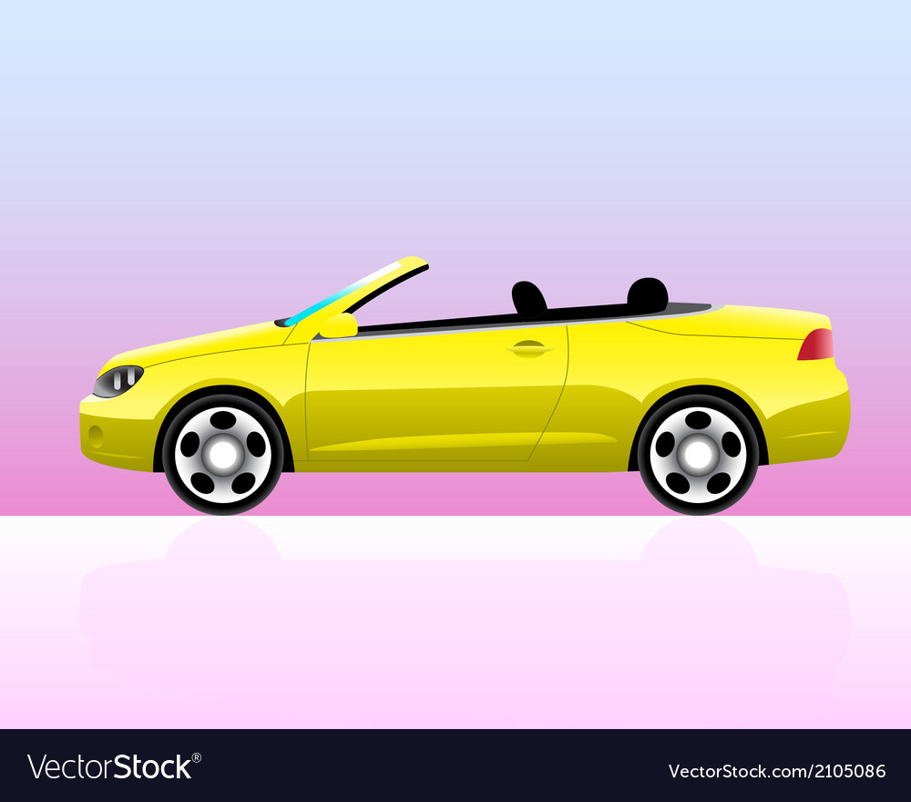 Sport convertible car icon vector | Price: 1 Credit (USD $1)