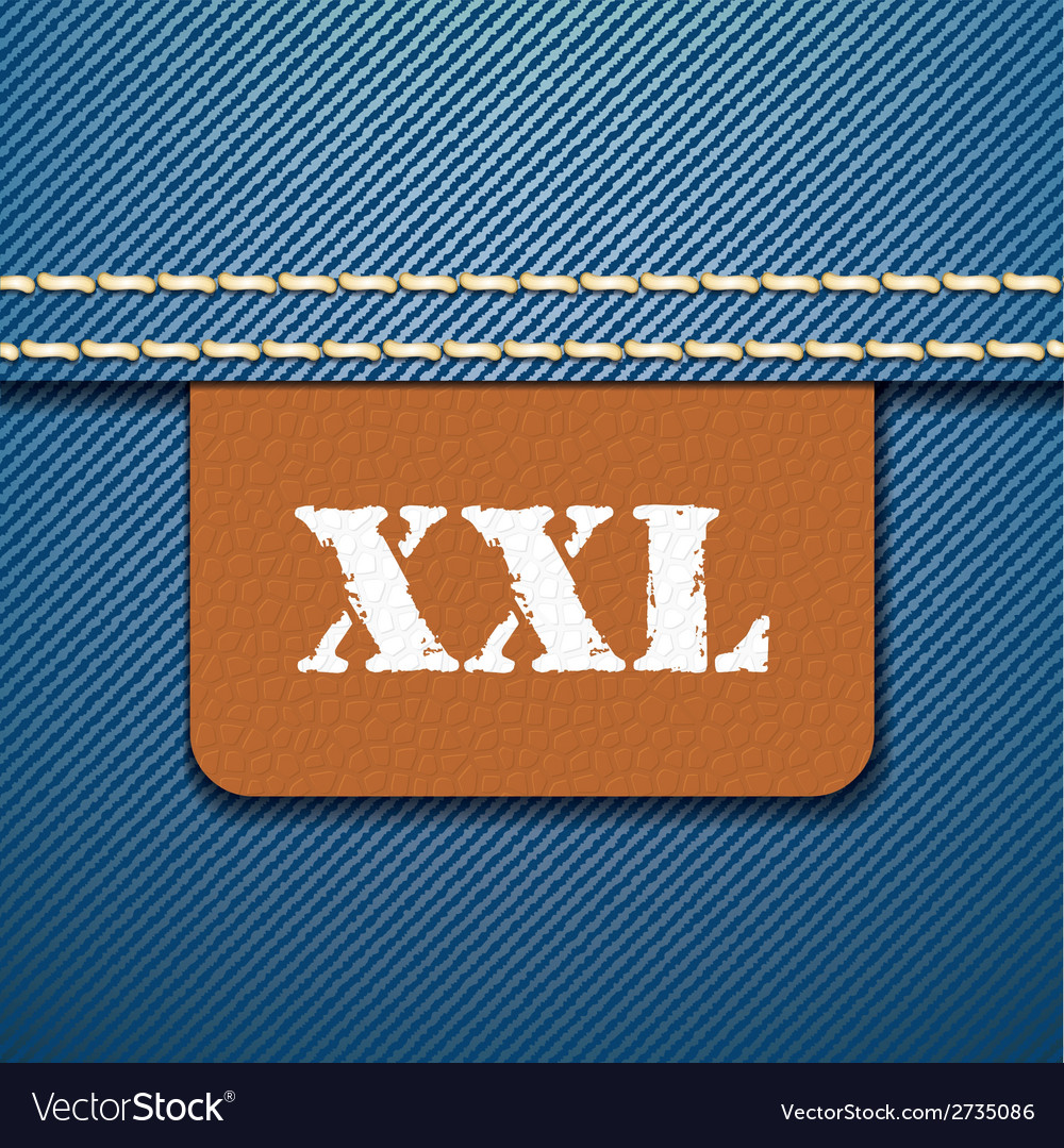 Xxl size clothing label - vector | Price: 1 Credit (USD $1)