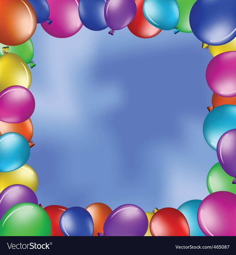 Balloons in the blue sky vector | Price: 1 Credit (USD $1)