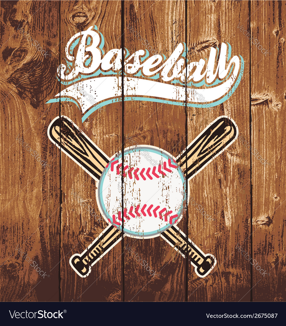 Baseball wooden board vector | Price: 1 Credit (USD $1)