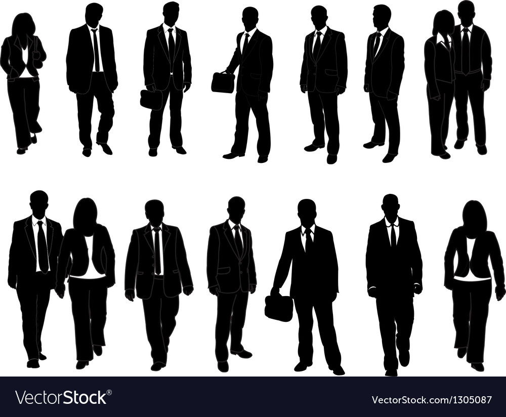 Business man collection vector