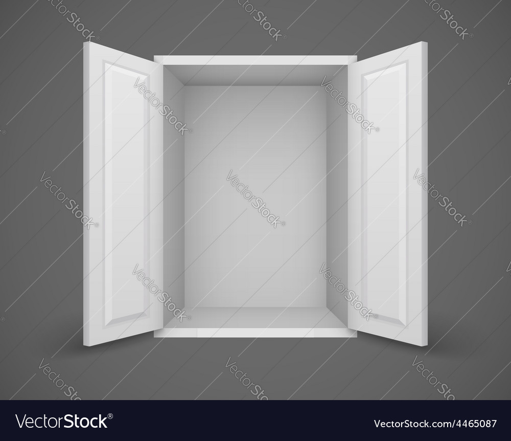 Empty white box with open vector | Price: 1 Credit (USD $1)