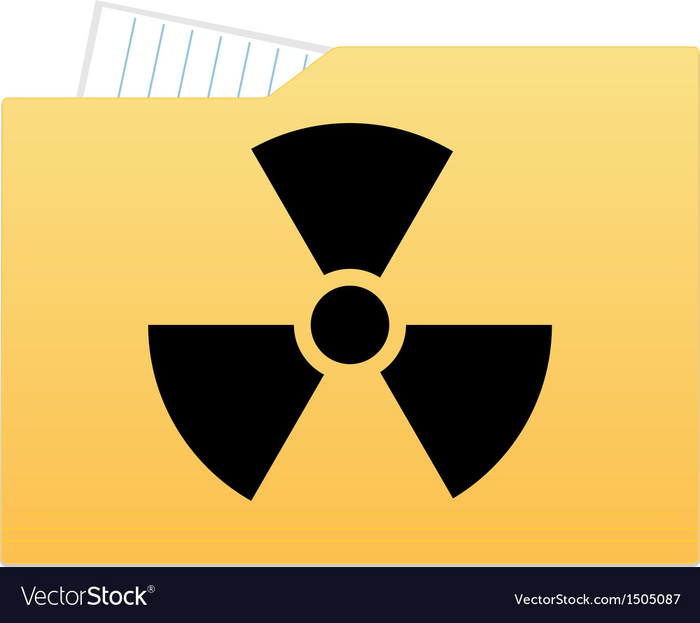 File folder with radiation sign vector | Price: 1 Credit (USD $1)