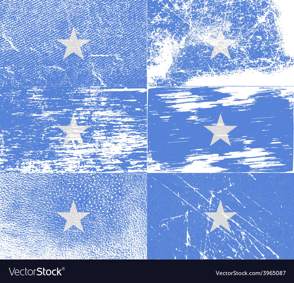 Flag of somalia with old texture vector | Price: 1 Credit (USD $1)