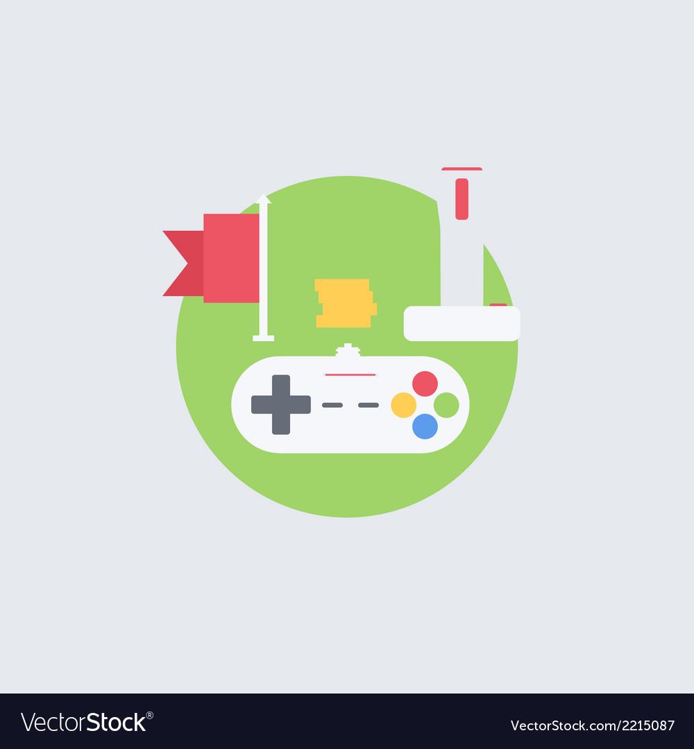 Flat gamer vector | Price: 1 Credit (USD $1)