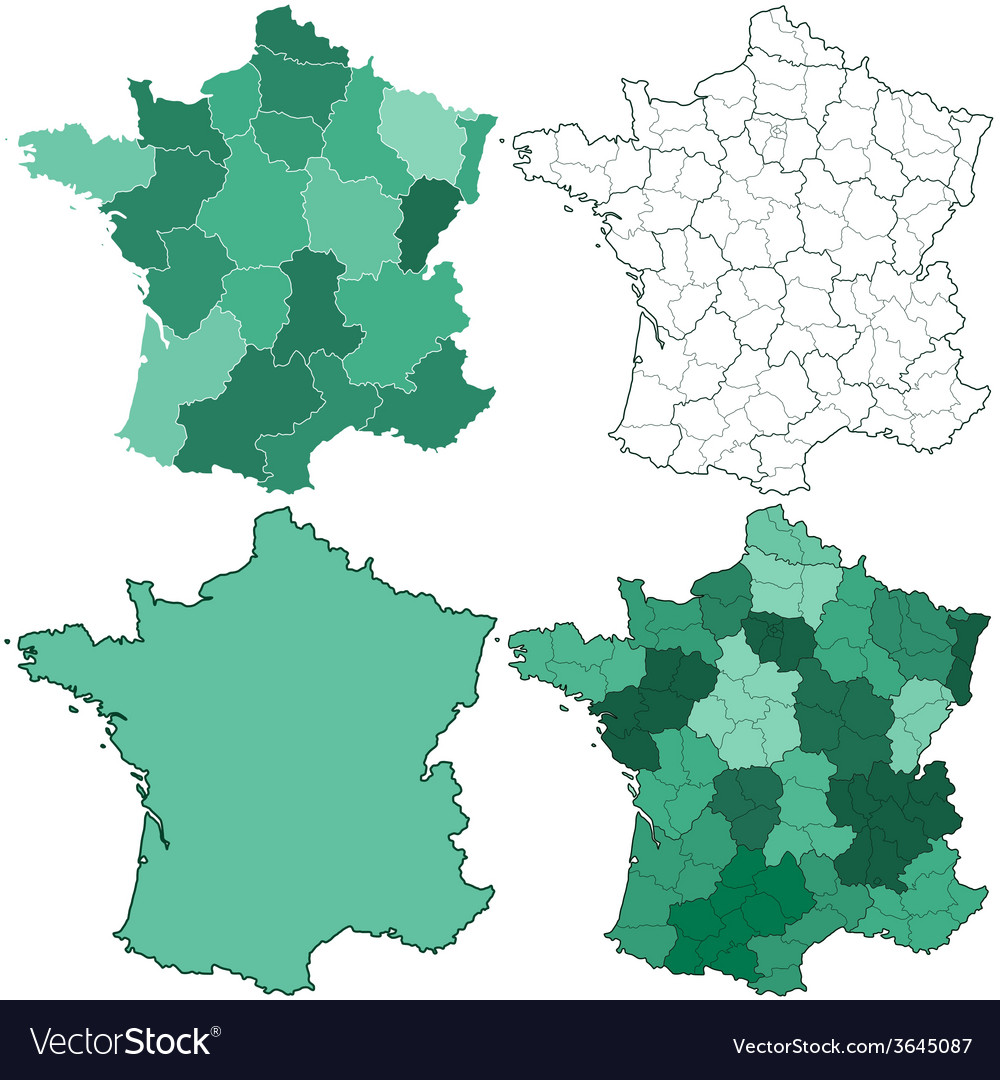France maps vector | Price: 1 Credit (USD $1)
