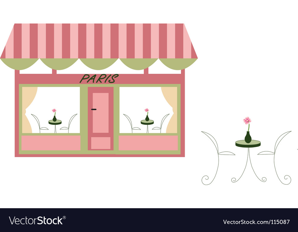 French cafe vector | Price: 1 Credit (USD $1)